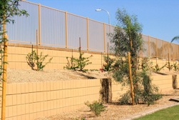 Retaining Wall at Bella Casa by Proto II Wall Systems